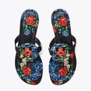TORY BURCH Miller Printed Sandals Size 7.5
